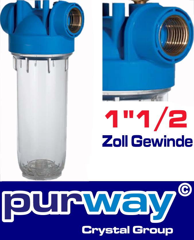 """DP 10 MONO 1""""1/2 OT TS Filtergehäuse Wasserfilter Trinkwasserfilter Gehäuse"""