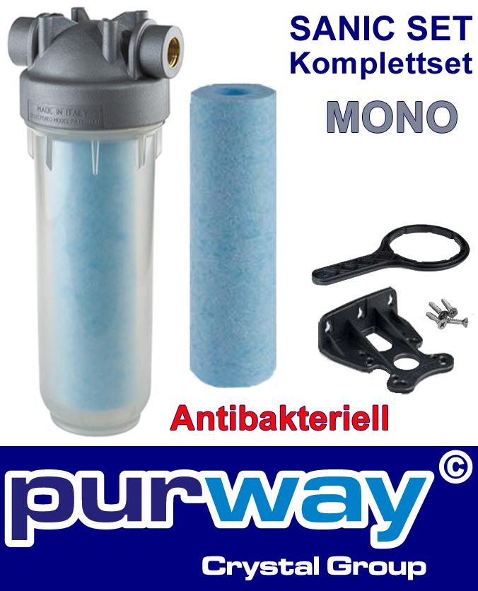 "DP MONO Sanic Set 1"" OT SANIC Filtergehäuse inkl. Filter 25 mcr Antibakteriell"