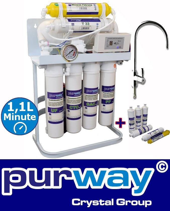 PUR Booster Quick 7 etapas sistema de ósmosis inversa más 1 juego de filtros