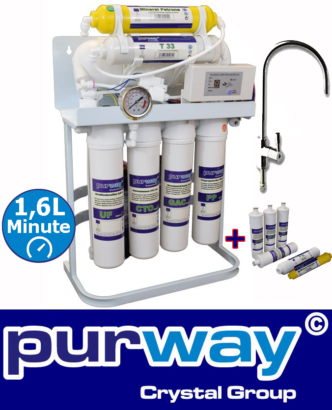 PUR Booster Quick 7-stage reverse osmosis system 600 GPD plus extra filter set